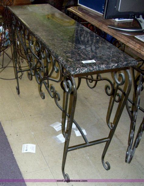 iron and marble table wrought iron sofa table homesfeed