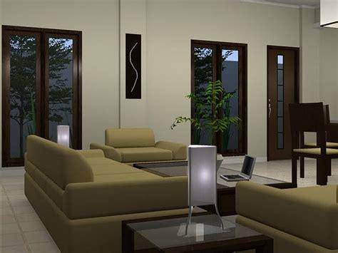 design interior rumah dengan furniture jati desain ruang keluarga minimalis sederhana modern