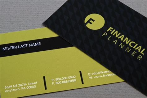 Financial Business Card Template by Financial Planner Or Account Business Card Template By