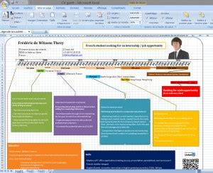 Show Me An Exle Of A Resume by Exemple Of A Resume As A Gantt Chart Done With Excel