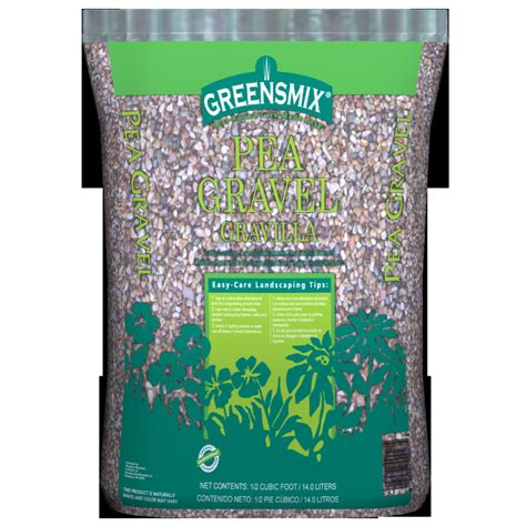 Pea Gravel Cost Per Bag Shop 0 5 Cu Ft Pea Gravel At Lowes
