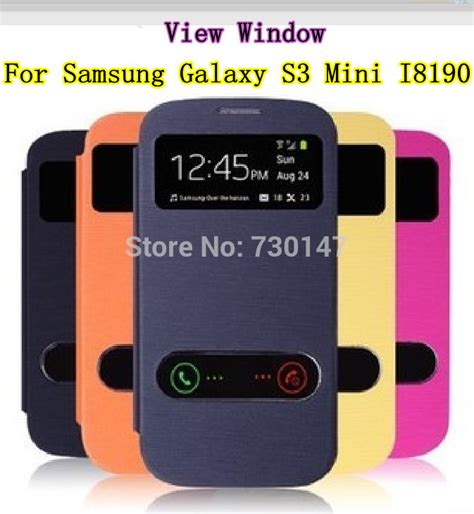Promo Original Samsung Flip Cover Galaxy S3 Mini I8190 Bagus for samsung galaxy s3mini s3 mini i8190 8190 view open window flip leather back cover cases