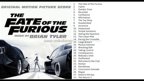 fast and furious soundtrack list the fate of the furious full soundtrack tracklist youtube
