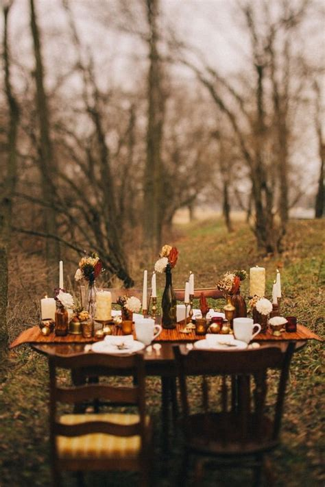 Charming Dining Table Setting Ideas #8: Ae6177ee223f16414be3c2b3b5f61207--fall-dinner-outdoor-dining.jpg