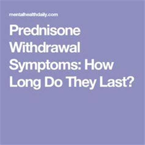 How To Detox From Prednisone prednisone effects side effects and how it changed my