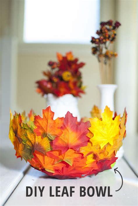 fall diy crafts diy leaf bowl craft diy leaf bowls