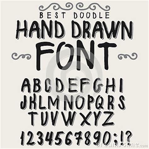 design huruf latin vintage alphabet hand drawn font stock vector image