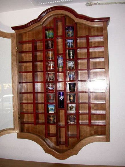 Shot Glass Display By Dewoodwork Lumberjocks Com