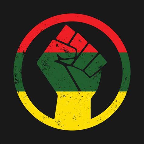 Kaos Afrika The Power Of Rasta rasta black power distressed shirt protest t
