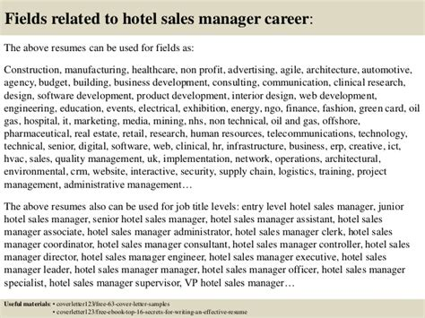 hotel sales manager cover letter top 5 hotel sales manager cover letter sles