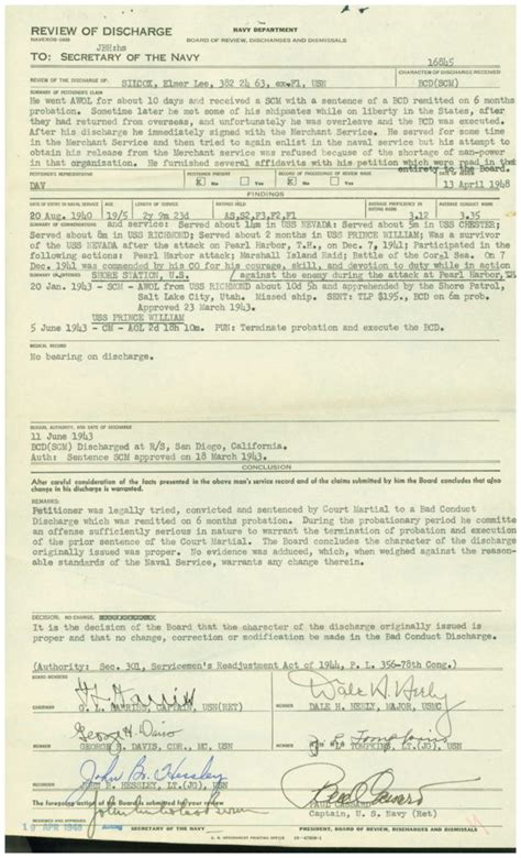 Court Martial Records Wwii Era Navy Service Records An Overview My