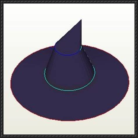 Papercraft Hat - witch hat free papercraft