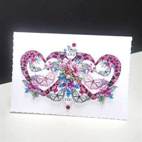 Handmade Cards With Butterflies - pink and butterfly handmade card decorque cards