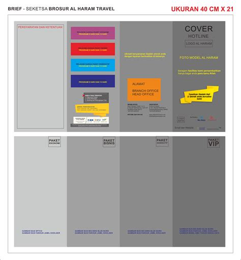 desain brosur umroh cdr sribu flyer brochure design desain brosur al haram tour