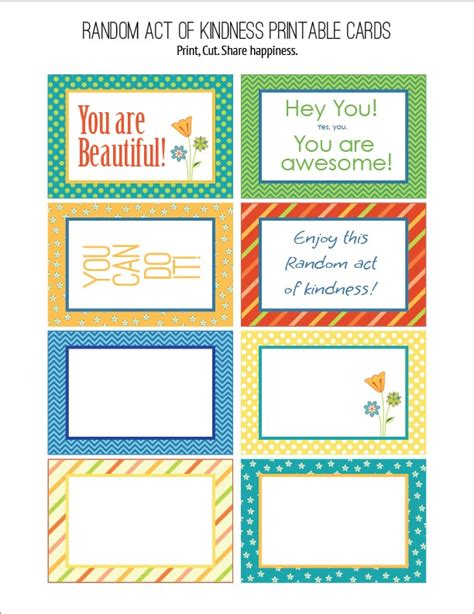 random acts of kindness cards templates random act of kindness free printables carla schauer designs
