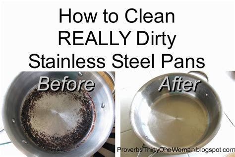 how to clean in how to clean really dirty stainless steel pots and pans
