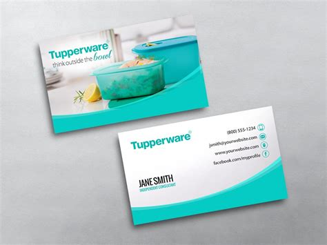 tupperware business cards template tupperware business cards free shipping