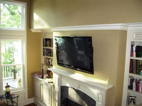 Tv Above Fireplace Decorating Ideas by Tv Fireplace Decorating Ideas