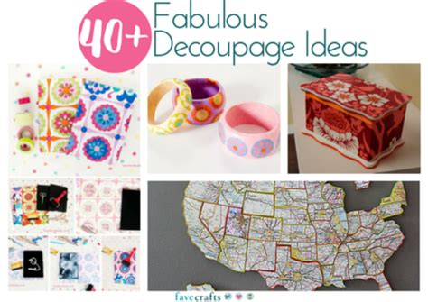 Decoupage Shapes - 40 fabulous decoupage ideas favecrafts