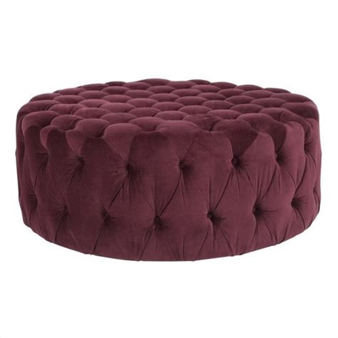 cotton ottoman safavieh charlene plywood and cotton ottoman in bordeaux