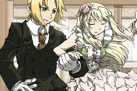 fullmetal alchemist brotherhood edward and winry kiss edward elric and winry rockbell images edxwinry