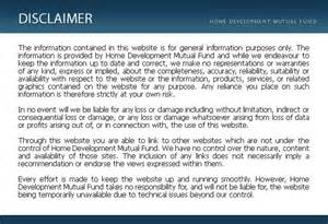Terms and conditions disclaimer
