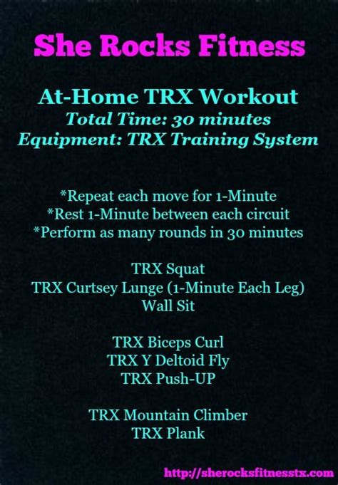 trx at home she rocks workout she rocks fitness must