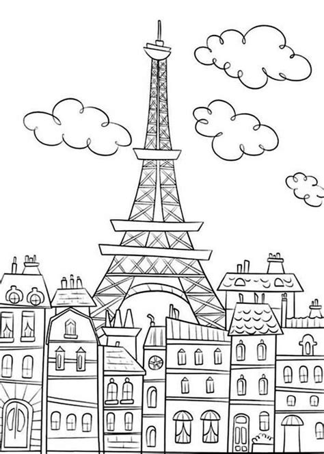 coloring page of eiffel tower eiffel tower coloring page the france building icon