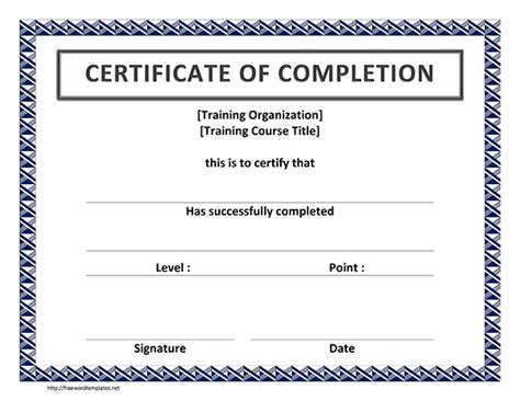 word template for certificate word certificate sle of word certificate template