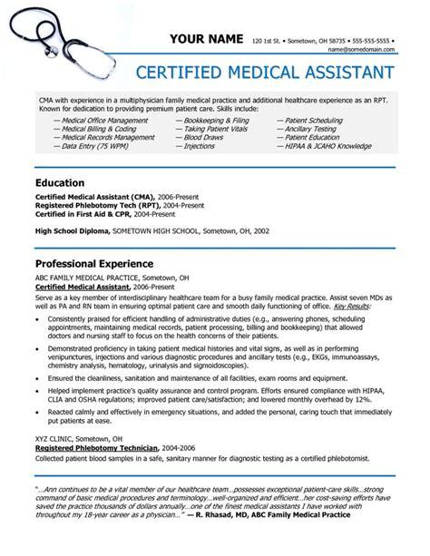 medical assistant resume sample medical assistant resume samples no