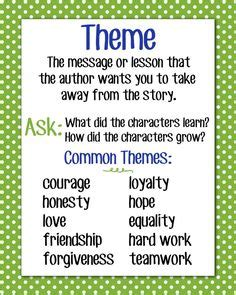 exles of themes in story 1000 images about theme reading anchor charts on