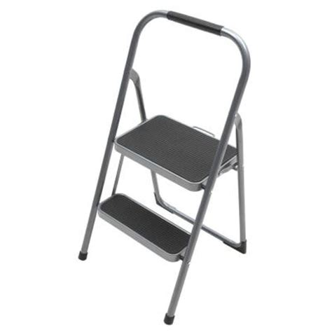Easy Reach Gorilla Step Stool by Gorilla Ladders 2 Step Steel High Back Stool Ladder With