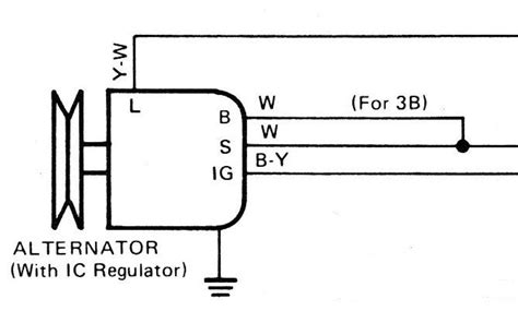 toyota external voltage regulator wiring diagram 4 pole