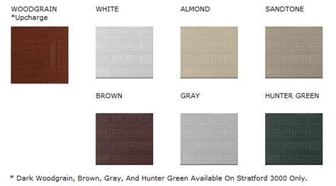 Overhead Door Colors Steel Garage Door Stratford Collection