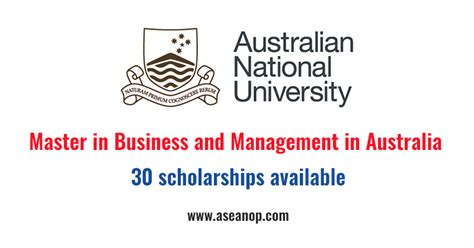 Australian National For Mba master of business administration scholarship at