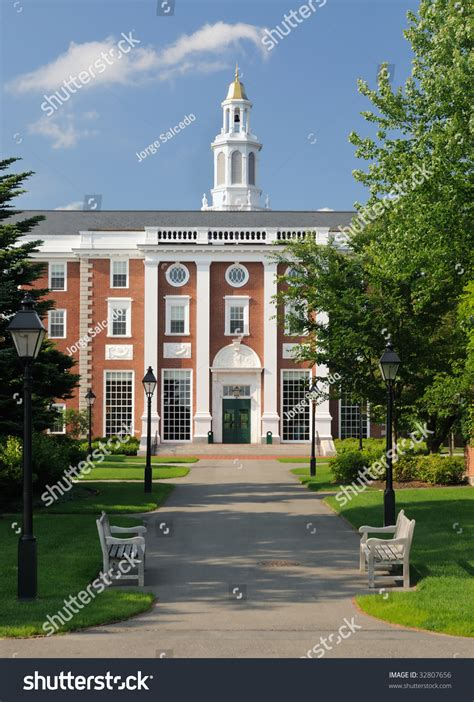 Harvard Mba Free by Harvard Business School Footpath Leading Entrance Stock