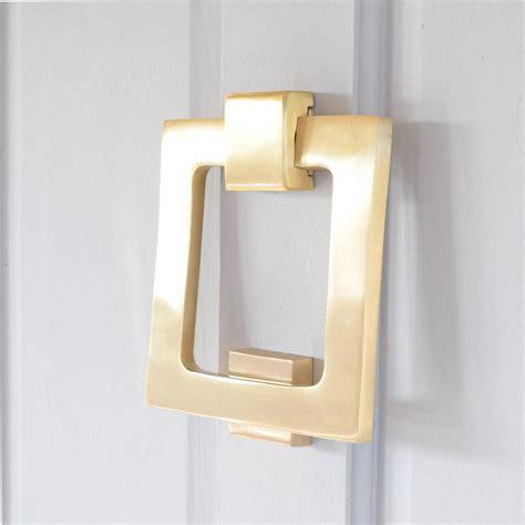 modern square matte brass door knocker by pushka home notonthehighstreet