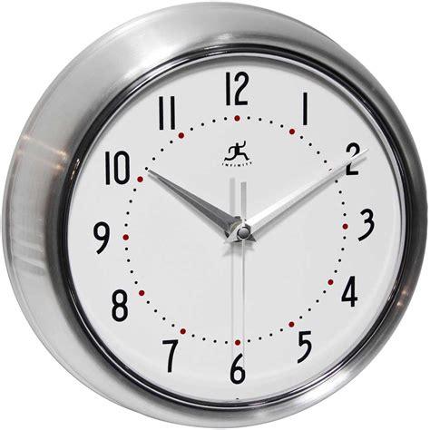 infinity retro wall clock retro silver wall clock by infinity instruments metal