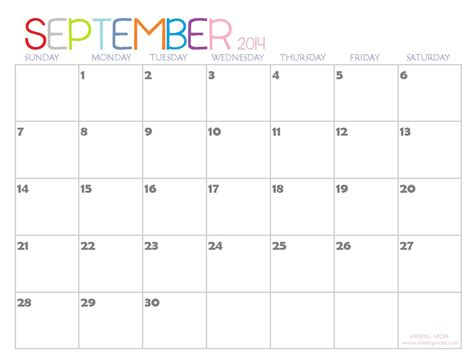 free printable weekly calendar september 2015 september calendar gallery