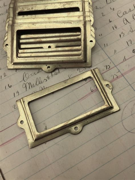 Drawer Label Holders by Vintage Brass Label Holders For Drawers Antique Drawer Pull