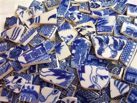 willow pattern mosaic china mosaic tiles blue willow vintage favorite 170