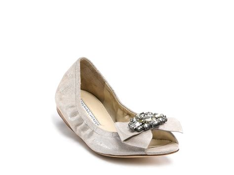 vera wang lavender shoes flats vera wang lavender flats sparkle suede in black lyst