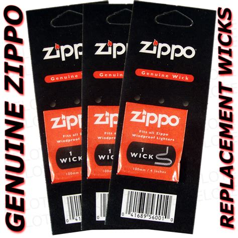 Refill Sumbu Zippo Zippo Genuine Wick genuine zippo accessories wick 3 pack wicks made in usa
