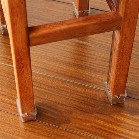 Chair Leg Pads For Hardwood Floors wood floor protectors set chair leg felt pads square 1 1 8 to 1 3 8 ebay