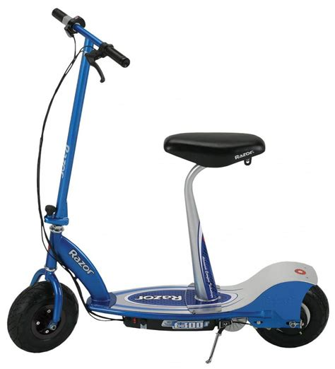 seated electric scooter razor e300s seated electric scooter blue 24v 13116240