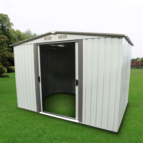 outdoor storage shed steel garden utility tool backyard