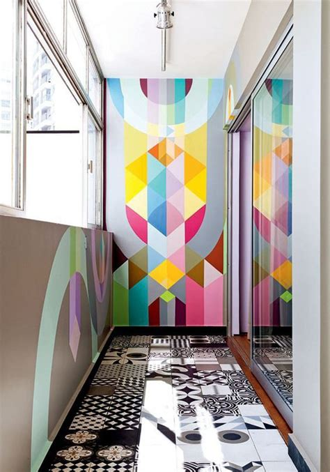 20 awesome geometric walls with vibrant colors home design and interior