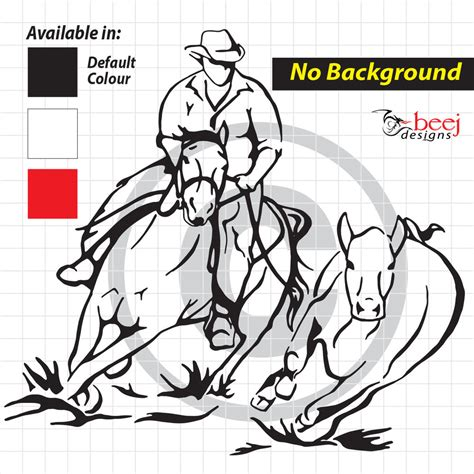 cutting horse coloring page cdrafting cowboy lrg cutting horse float western decal