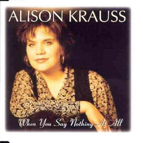 picking pattern when you say nothing at all when you say nothing at all alison krauss union