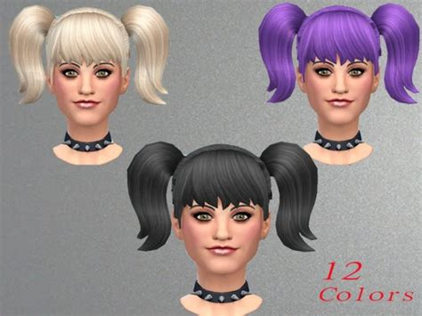 sims 3 pigtails with bangs sims 4 hairs the sims resource new pigtails by neissy